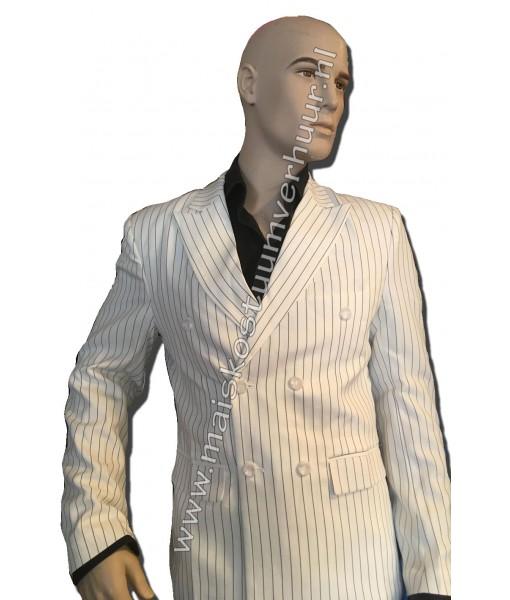 Heren kostuum Wit streepje