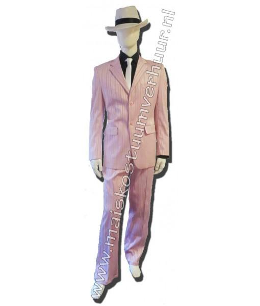 Heren kostuum zachtroze
