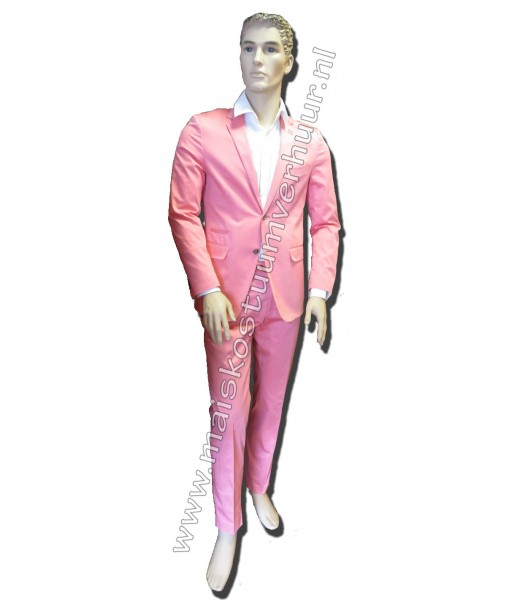 Heren kostuum Roze