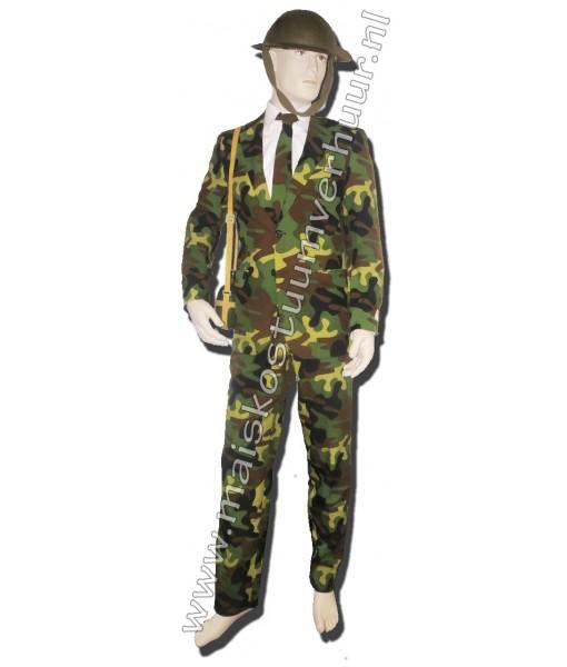 Heren kostuum Camouflage