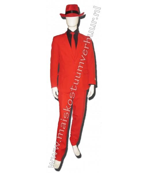 Heren Kostuum Rood