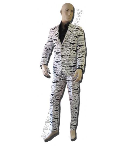 Heren Kostuum Snor