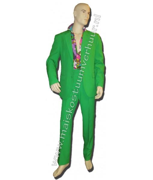 Heren kostuum groen