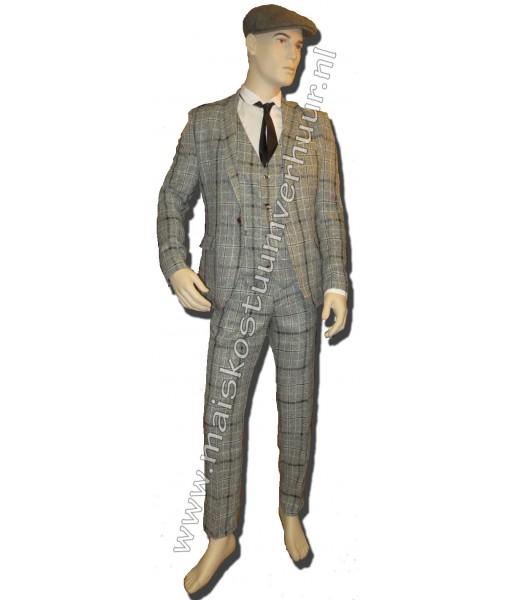 Geruite 3-delig kostuum