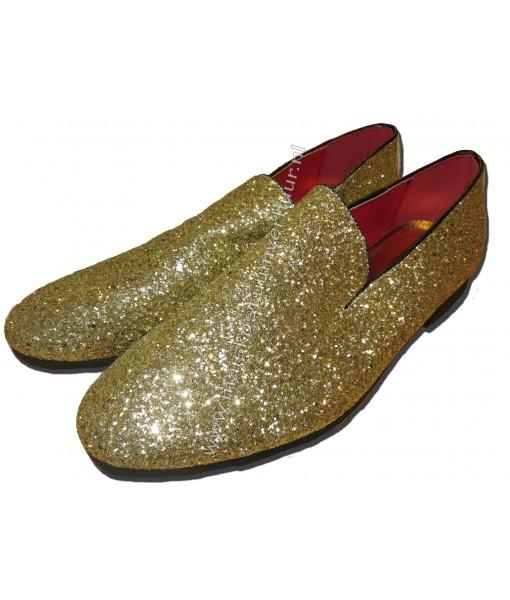 Gouden heren schoenen