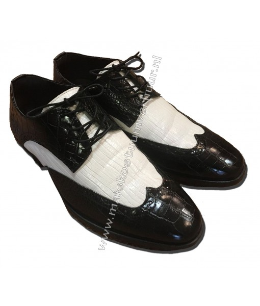 Heren schoenen zwart wit